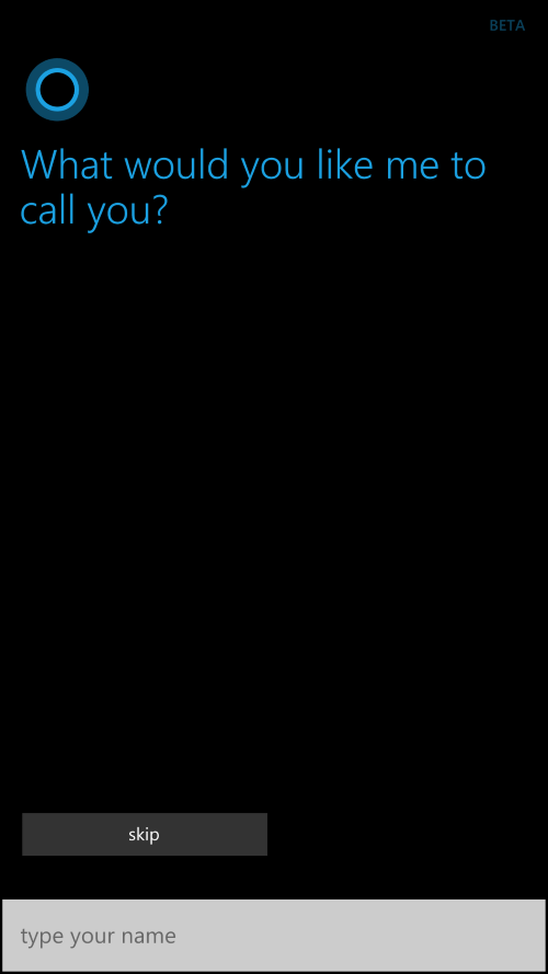 And there she is cortana make sure though that you have english