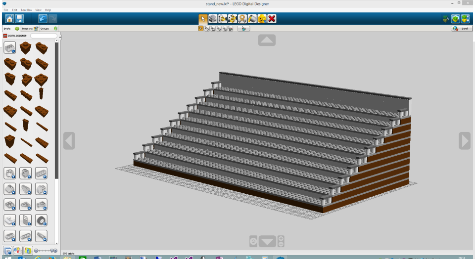 Wolfgang ziegler building a terrace for our lego minifigures for Lego digital designer templates